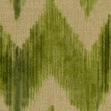 Green Flamestitch Drapery and Upholstery Fabric by Lee Jofa