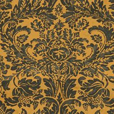 Onyx/Topaz Damask Drapery and Upholstery Fabric by Lee Jofa