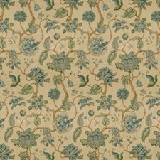 Blue Jacobeans Drapery and Upholstery Fabric by Lee Jofa