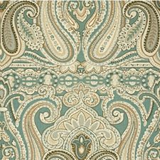 Sage/Bark Paisley Drapery and Upholstery Fabric by Lee Jofa