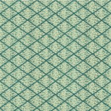 Turquoise Animal Drapery and Upholstery Fabric by Lee Jofa