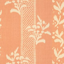 Peach Print Drapery and Upholstery Fabric by Lee Jofa