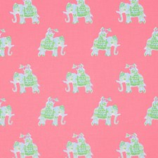 Tiki Pink Animal Drapery and Upholstery Fabric by Lee Jofa
