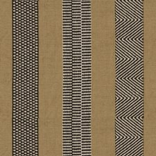 Camel/Onyx Stripes Drapery and Upholstery Fabric by Lee Jofa