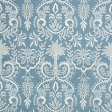 Blue Tropical Drapery and Upholstery Fabric by Lee Jofa