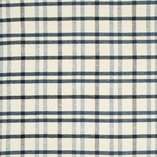 Blue/Navy Plaid Drapery and Upholstery Fabric by Lee Jofa