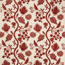 Red Jacobeans Drapery and Upholstery Fabric by Lee Jofa