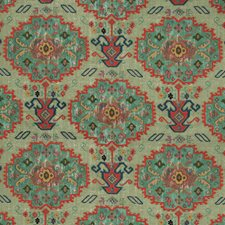 Sage/Jewel Ethnic Drapery and Upholstery Fabric by Lee Jofa