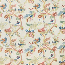 Berry/Gold Tropical Drapery and Upholstery Fabric by Lee Jofa