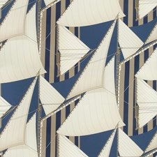 Navy/Marine Novelty Drapery and Upholstery Fabric by Lee Jofa