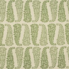 Ecru/Leaf Paisley Drapery and Upholstery Fabric by Lee Jofa