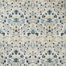 Indigo Botanical Drapery and Upholstery Fabric by Lee Jofa