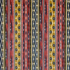 Red/Blue Ethnic Drapery and Upholstery Fabric by Lee Jofa