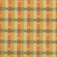 Rust/Light Green Plaid Drapery and Upholstery Fabric by Kravet