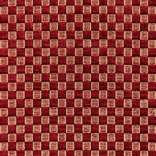 Ruby Check Drapery and Upholstery Fabric by Lee Jofa