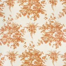 Terracota Botanical Drapery and Upholstery Fabric by Lee Jofa