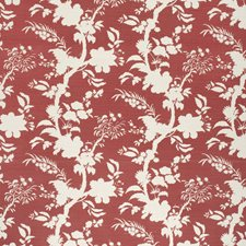 Crimson Botanical Drapery and Upholstery Fabric by Lee Jofa