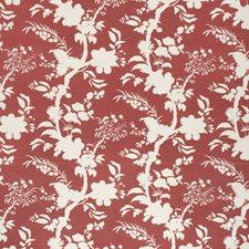 Crimson Botanical Drapery and Upholstery Fabric by Lee Jofa