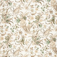 Brow/Gree Botanical Drapery and Upholstery Fabric by Lee Jofa