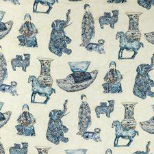 Porcelain Chinoiserie Drapery and Upholstery Fabric by Lee Jofa