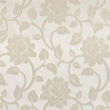 Beige Floral Drapery and Upholstery Fabric by Greenhouse