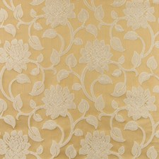 Honey Floral Drapery and Upholstery Fabric by Greenhouse