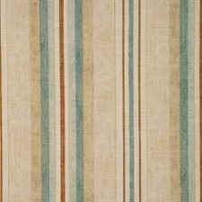 Ecru Stripes Drapery and Upholstery Fabric by RM Coco