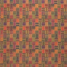 Green/Yellow/Burgundy Drapery and Upholstery Fabric by Kravet
