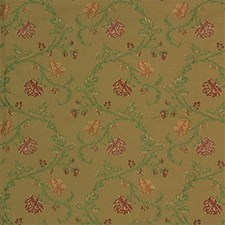 Beige/Light Green/Burgundy Botanical Drapery and Upholstery Fabric by Kravet