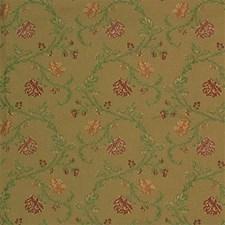 Beige/Light Green/Burgundy Botanical Drapery and Upholstery Fabric by Kravet
