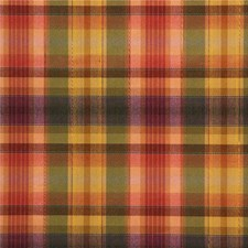 Green/Rust Plaid Drapery and Upholstery Fabric by Kravet