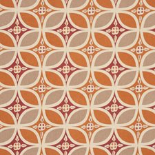 Orange/Multi Drapery and Upholstery Fabric by RM Coco