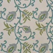 Bluegreen Drapery and Upholstery Fabric by RM Coco