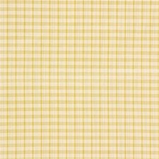 Yellow/White Check Drapery and Upholstery Fabric by Kravet