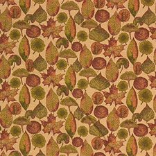 Beige/Rust/Green Botanical Drapery and Upholstery Fabric by Kravet