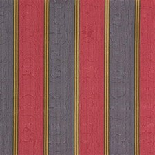 Blue/Burgundy/Red Stripes Drapery and Upholstery Fabric by Kravet