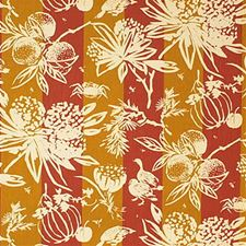 Terraco Botanical Drapery and Upholstery Fabric by Groundworks
