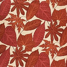 Clay Botanical Drapery and Upholstery Fabric by Groundworks