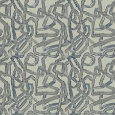 Blue Salt Geometric Drapery and Upholstery Fabric by S. Harris