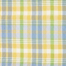 Blue/Green/Yellow Plaid Drapery and Upholstery Fabric by Kravet