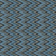 Electric Blue Flamestitch Drapery and Upholstery Fabric by S. Harris