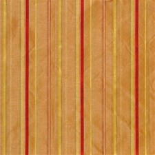 Yellow/Burgundy/Red Stripes Drapery and Upholstery Fabric by Kravet