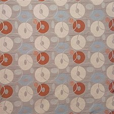 Green/Light Blue/Rust Dots Drapery and Upholstery Fabric by Kravet