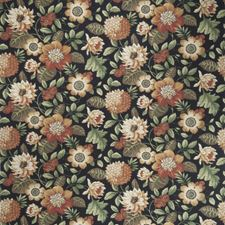 Black Pepper Floral Drapery and Upholstery Fabric by Fabricut