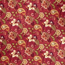 Garnet Floral Drapery and Upholstery Fabric by Fabricut