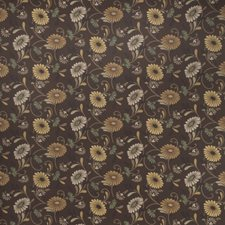 Toffee Floral Drapery and Upholstery Fabric by Fabricut