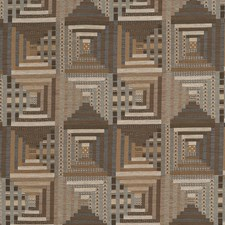 Hemp Geometric Drapery and Upholstery Fabric by Fabricut