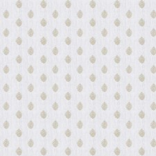 Snow Embroidery Drapery and Upholstery Fabric by Stroheim