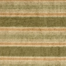Green/Yellow/Beige Stripes Drapery and Upholstery Fabric by Kravet