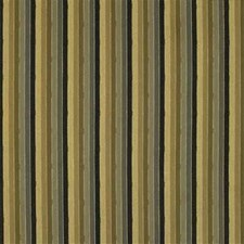 Yellow/Black/Brown Stripes Drapery and Upholstery Fabric by Kravet